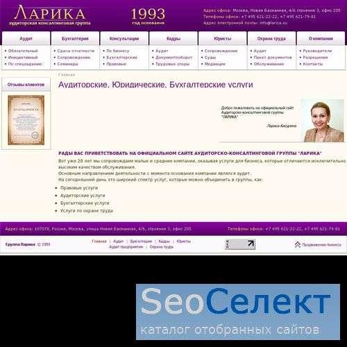 Бухгалтерский учет и аудит - Larica.su - http://www.larica.su/