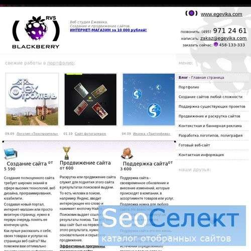Создание, продвижение готовых форумов и веб-дизайн - http://egevika.com/