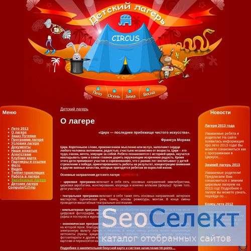 Детский подмосковный лагерь в мо - поездка - http://www.circuscamp.ru/