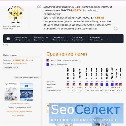 Энергосберегающие лампы Масте Света - http://www.sztp-rm.ru/