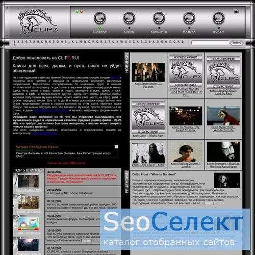Бесплатные клипы в форматах divx, mpeg, xvid, wmv, - http://www.clipz.ru/