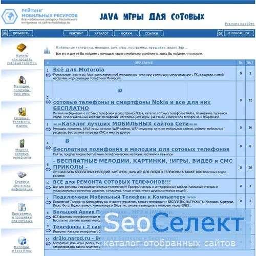 Russian Mobile Top 100 - Рейтинг сотовой связи - http://www.mobiletop.ru/