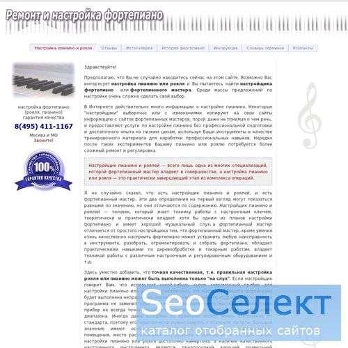 Настройка пианино. Мастер настройщик фортепиано - http://www.piano.loke.ru/